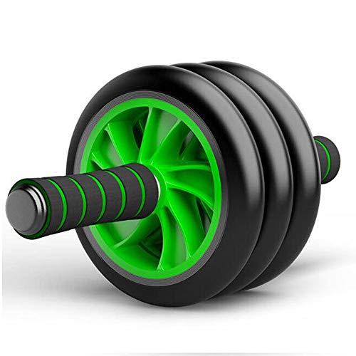 Good Times Bauchtrainer Abroller Bauchroller Bauchmuskeltrainer mit Knieauflage, Ab Wheel mit Kniematte für Bauchmuskeltraining Muskelaufbau, Muskeltrainer mit Triple Rollen (Grün, 16cm Räder)