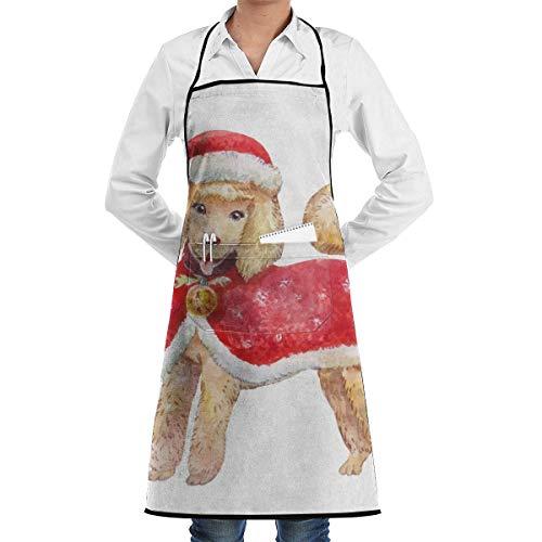 Pag Crane Cane in Abiti Rossi di Babbo Natale Grembiuli da Barbecue Personalizzati sorridenti Cuoco Cucina Grembiule Personalizzato Cottura Cottura a Figura Intera per Donna Uomo Unisex