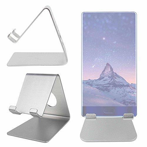 DURAGADGET Atril De Aluminio para Smartphone Doogee Mix/Cubot R9 - ¡Ideal para Su Escritorio! - Color Plata