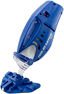"""Pool Blaster Max Cordless Rechargeable, Battery-Powered, Pool-Cleaner with 10.5"""" Scrub Brush Head, Large Filter bag, ideal for In-Ground Pool and Above Ground Pools for Leaves, Dirt and Sand & Silt."""