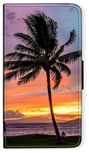 blitzversand Flip Case Pineapple Bowl kompatibel für Samsung Galaxy S9 Plus Palme Sonnen untergang Handy Hülle Leder Tasche Klapphülle Brieftasche Etui rund um Schutz Wallet M6