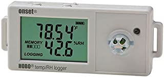 Data Logger, External RH Sensor, 0.9 in. H
