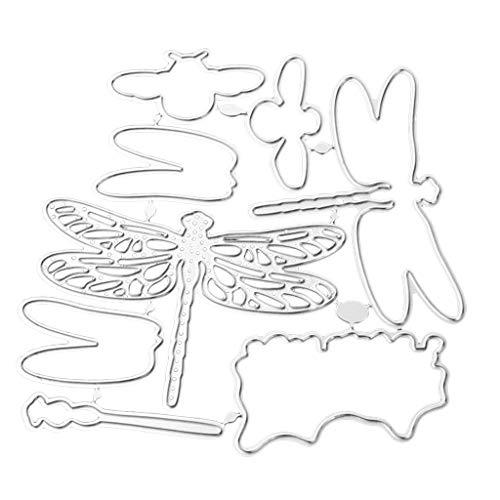 Baoblaze Libelle Metall Stanzschablone Scrapbooking, Prägeschablonen Schablonen Stanzformen