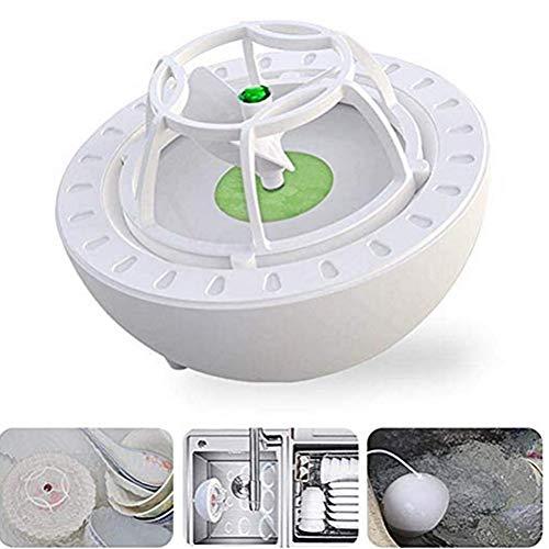 Macabolo - Mini lavavajillas ultrasónico Oxo, portátil, USB, limpiador de agua de alta presión para frutas y verduras 10 * 10 * 7.5cm verde
