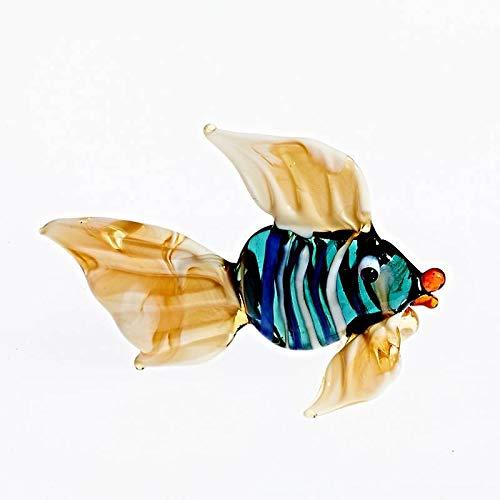 CRISTALICA Fisch Mini Plus 4-5cm Glas Tiere Figuren Sammeln Vitrine Miniatur Aquarium