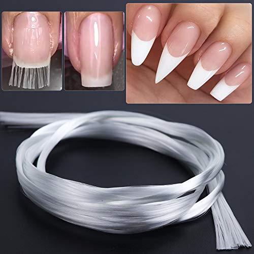 Seda de fibra de vidrio para puntas de las uñas de acrílico Forma rápida extensión de uñas de arte herramienta de la manicura uñas de fibra de vidrio recubrimiento de construcción