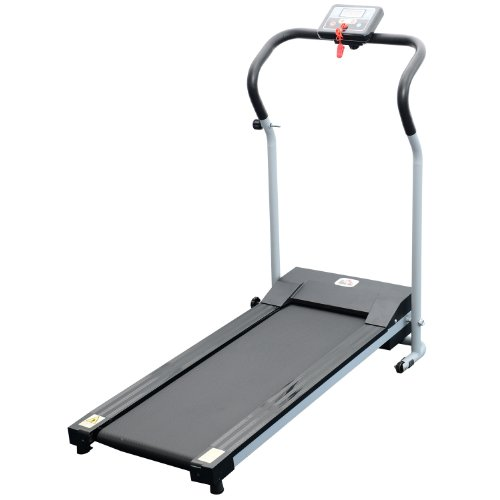 Homcom Unisex Motorised Electric Treadmill, Grey/Black, 62 x 62.5 X 119 cm