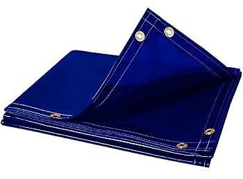 Steiner 325-6X8 Arcview 14 Mil Flame Retardant Tinted Transparent Vinyl Welding Curtain Blue 6  x 8