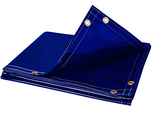 Steiner 325-6X8 Arcview 14 Mil Flame Retardant Tinted Transparent Vinyl Welding Curtain, Blue, 6' x 8'