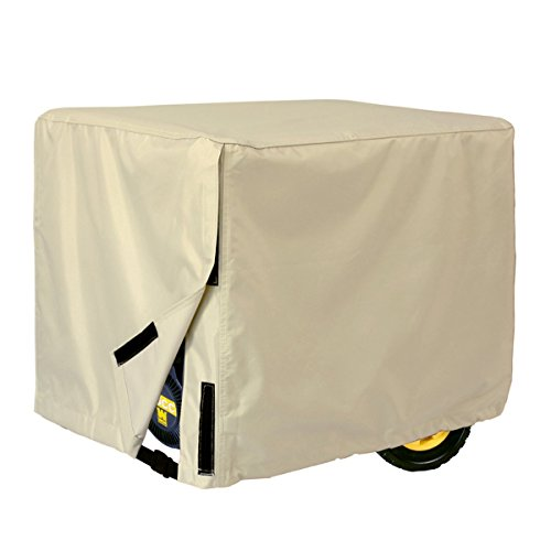Porch Shield Waterproof Universal Generator Cover 38 x 28 x 30 inch, for Most Generators 5500-15000 Watt, Light Tan