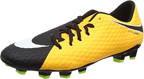 Nike Hypervenom Phelon III FG, Botas de fútbol para Hombre, Naranja (Laser Orange/Black/Black/Volt/White), 45.5 EU