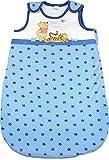 Disney - Saco de dormir para bebé, diseño de Winnie the Pooh, color blanco y azul Talla:70