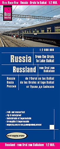 Reise Know-How Landkarte Russland - vom Ural zum Baikalsee (1:2.000.000): world mapping project