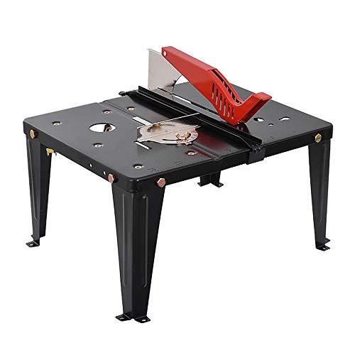 ZJY Mesa de carpintería Multifuncional, Superficie de Acero Inoxidable, Soporte de Carga de 80 kg, Tornillos de Platina móviles, Adecuado para carpintería