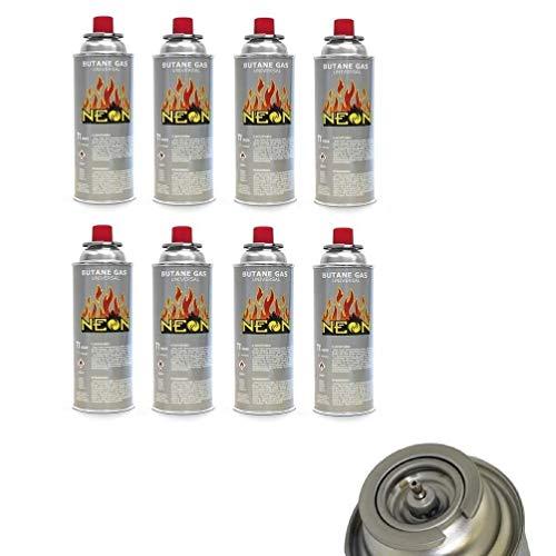 Megaprom 8X 227g Gaskartuschen für Campingkocher | Butan MSF-1a Gaskartusche für Gaskocher, Gasheizung, Gasbrenner und Unkrautvernichter