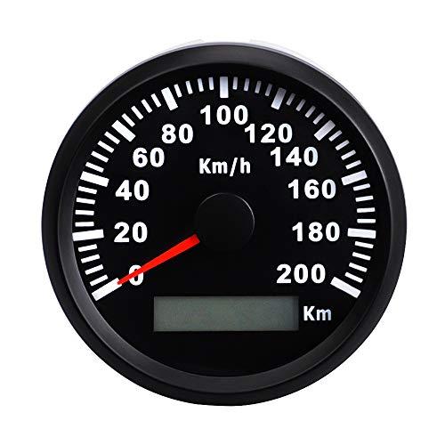 ZXJUAN Car Modified GPS waterdichte afstandsmeter 85 mm roestvrij staal digitale tastometer 200 km/h instrumentenwerkbank
