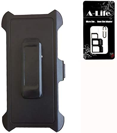 Fits for iPhone Xs Max Defender Case - After Market Replacement Swivel Belt Clip Holster for Defender Case iPhone Xs MAX [Comes with Sim Card Adapter ]