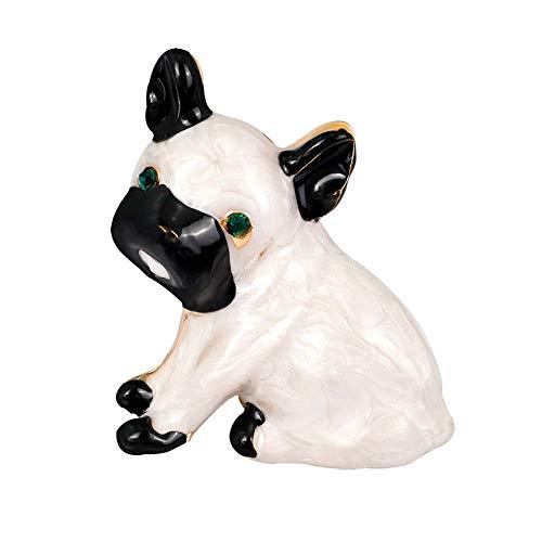 Ogquaton Brosche Netter Hund Anzug Hemdkragen Pin Einfache Legierung Damen Herren Accessoires Zulassung Abschluss Abschluss Geschenk Robust und kostengünstig