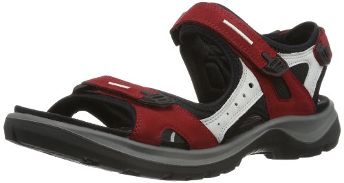 ECCO Damen Offroad Sport- & Outdoor Sandalen, Rot (Chilired/Concrete/Black 55287), 40 EU