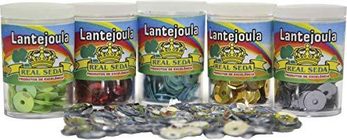 Real Seda 772 Lantejoula Potes 2G, Multicores, 12 unidades
