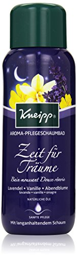 Kneipp Aroma-Pflegeschaumbad Zeit für Träume Lavendel Vanille und Abendblume, 1er Pack (1 x 400 ml)