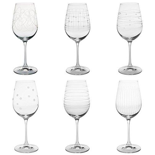 Table Passion - Coffret 6 verres à pied graphik 35 cl