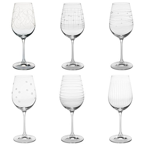 Table Passion - Coffret 6 verres à pied graphik 35 cl