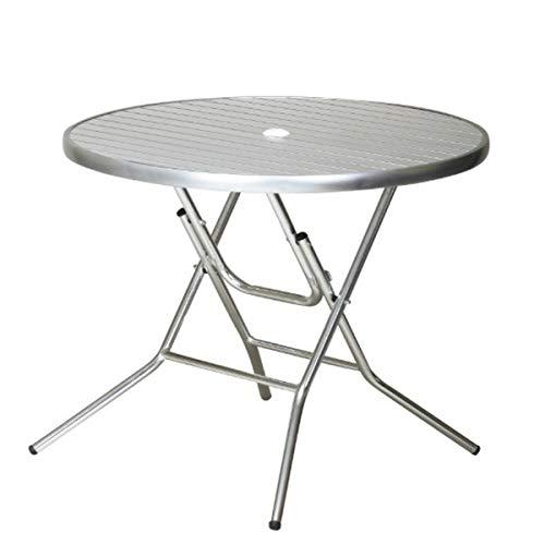 アルミ ガーデンテーブル 折りたたみ パラソル穴 店舗 オープンカフェ アルミ