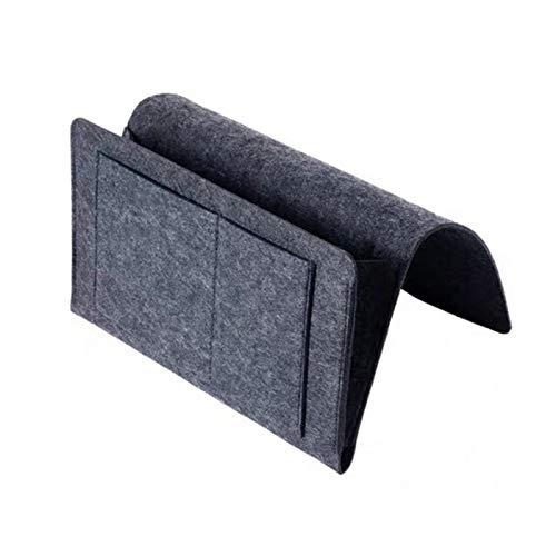 nimabi Fieltro trastero Almacenamiento Organizador Antideslizante Bolsa de Cama lecho sofá Lado Bolsa Colgando sofá Almacenamiento Soporte Bolsillos (Color : Gray 320x200x100mm)