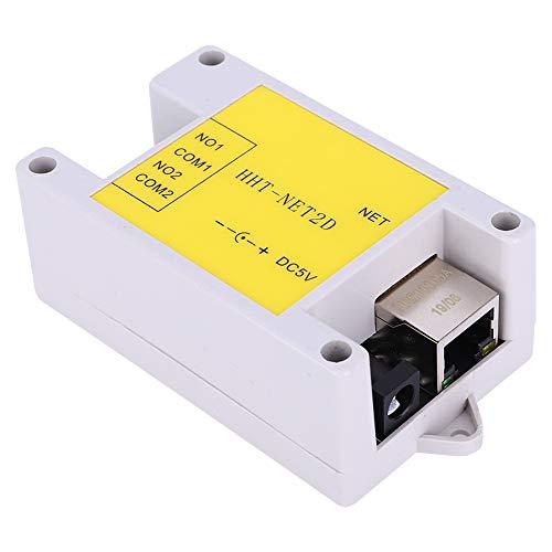 Módulo de relé de red IP, módulo de control IP funciona -40 ℃ a 80 ℃. Hecho de plástico, no menos de 1A para el control de la casa inteligente DC5V HHT-NET2D