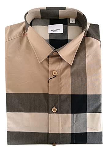 BURBERRY Camicia Manica a Lunga in Cotone Uomo 8010213 Check Archive Beige L (L)