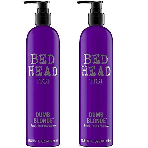 TIGI BED HEAD Dumb Blonde Purple Toning Shampoo 400ml 2 Stück