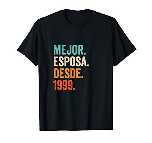 Mejor Esposa desde 1999 | 22 aniversario de boda matrimonio Camiseta