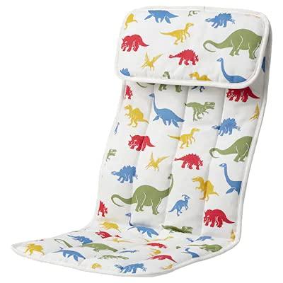 POÄNG Cuscino per poltrona per bambini, motivo Medskog/dinosauro + penna ricaricabile FINCHLEY
