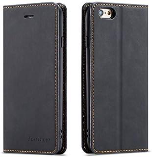 QLTYPRI Hülle für iPhone 7 iPhone 8 iPhone SE 2020, Premium Dünne Ledertasche Handyhülle mit Kartenfach Ständer Flip Schutzhülle Kompatibel mit iPhone 7 iPhone 8 iPhone SE 2020   Schwarz