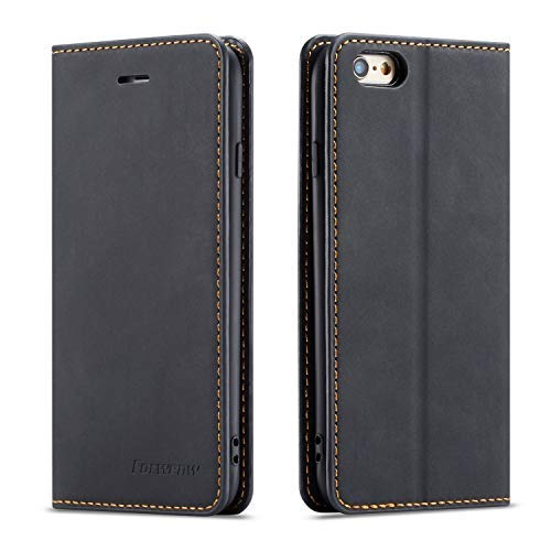 QLTYPRI Case for iPhone 7 iPhone 8 iPhone SE 2020, Premium PU Leather Cover TPU Bumper with Card Holder Kickstand Hidden Magnetic Adsorption Flip...