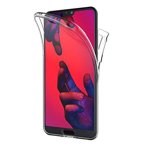 AICEK Funda Huawei P20 Pro, Transparente Silicona 360°Full