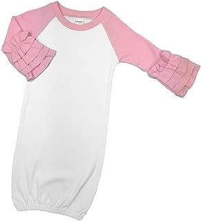 Monag Raglan Ruffle Baby Gown