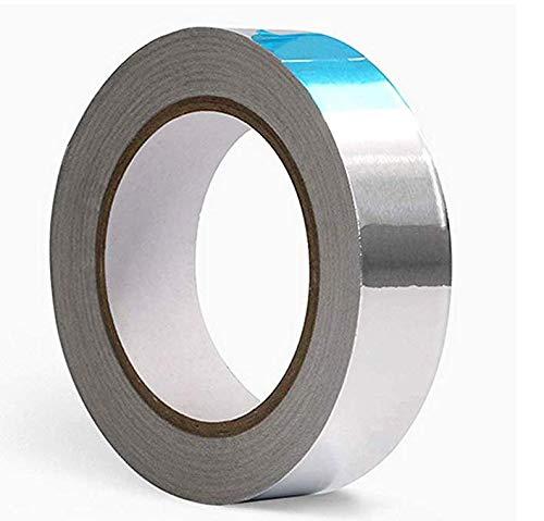 Anlising - Cinta adhesiva de aluminio (30 mm x 50 m), color plateado