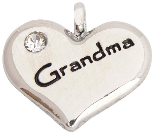"Breloque Charm Coeur ""Grandma"" (Grand-Mère)"