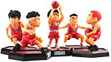cheaaff 5 unids/Set Slam Dunk Rukawa Kaede Hanamichi Sakuragi Figura PVC Modelo Juguetes muñeca Anime Figura de Jugador de Baloncesto