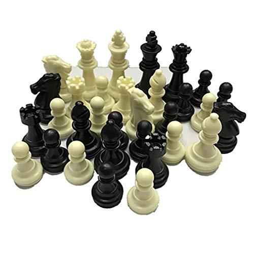 fawox Mittelalterliche Schachfiguren/Plastik Komplette Schachfiguren Internationales Wortschachspiel Schwarz Weiß