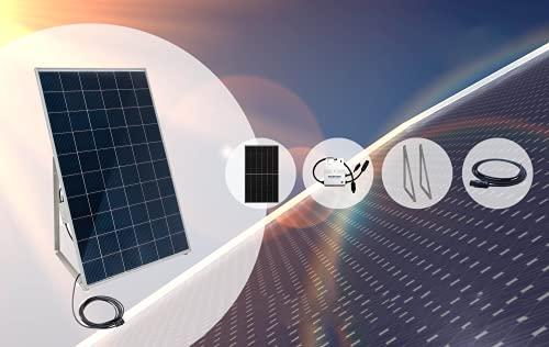"""Home-Solar-Modul 360Wp (HSM360 Wp + Gestell + Anschlusskabel""""Schuko"""" 5m)"""