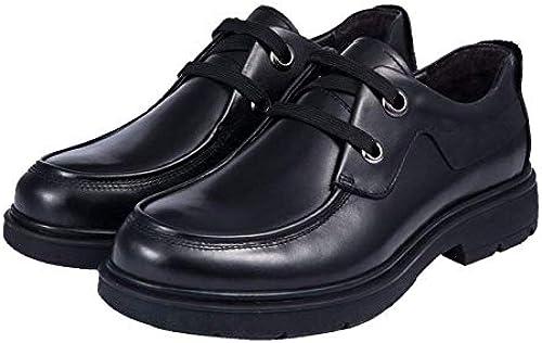 Business Casual Herren Lederschuhe Mode Komfort Schnürschuhe Runde Kopf Low Heel schuhe