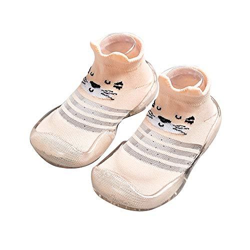 YUHUAWYH Baby Schuhe Baby Jungen Mädchen Sommer Anti Slip Schuhe Socken Kleinkind Kleinkind Erste Wanderschuhe Slipper Socken für Alter 6 Monate bis 3 Jahre
