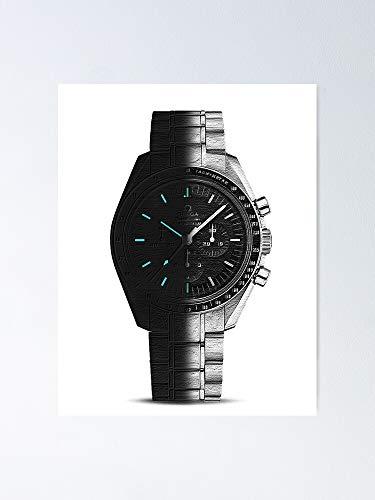 Omega Speedmaster - Póster profesional con reloj de luna de lado oscuro del lume, para decoración de oficina, dormitorio, aula, gimnasia y bestias lgbt, vacaciones, gran arte de pared inspirador
