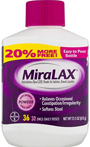 MiraLAX Powder Laxative, 34 Doses, 20.4 Ounce
