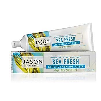 Jason Sea Fresh Strengthening Fluoride-Free Toothpaste Deep Sea Spearmint 6 Oz