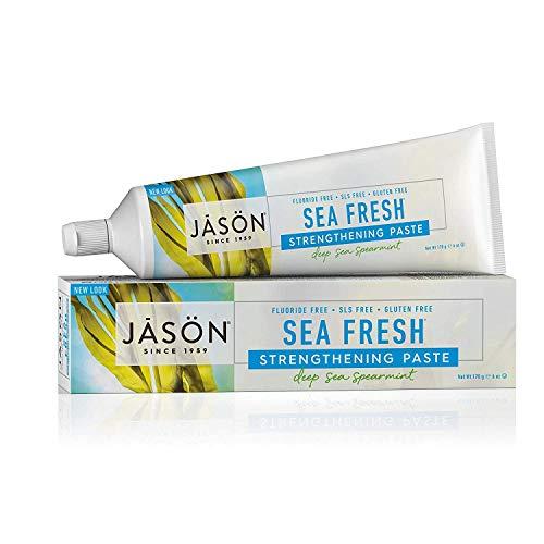 Jason Sea Fresh Strengthening Fluoride-Free Toothpaste, Deep Sea Spearmint, 6 Oz