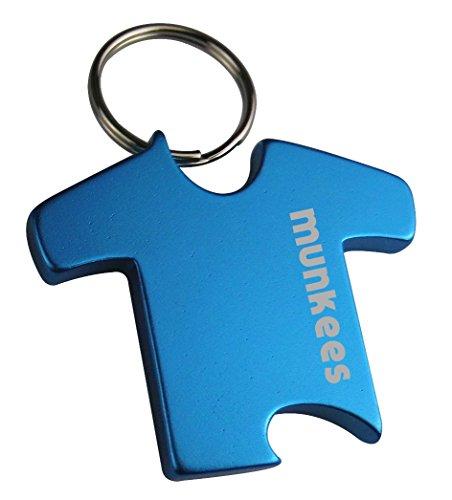 munkees Schlüsselanhänger T-Shirt mit Flaschenöffner aus hochwertigem Aluminium, Schlüsselring, 7500